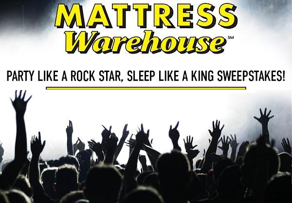 Mattress Warehouse Party Like A Rockstar Sweepstakes