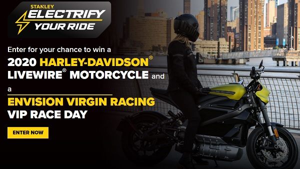Stanley Tools Electrify Your Ride Sweepstakes