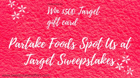 Partakefoods.com Spot Us at Target Sweepstakes