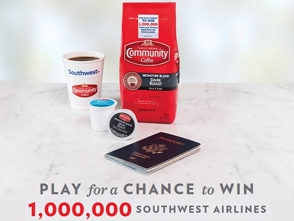 Community Coffee Fly More Instant Win Game and Sweepstakes