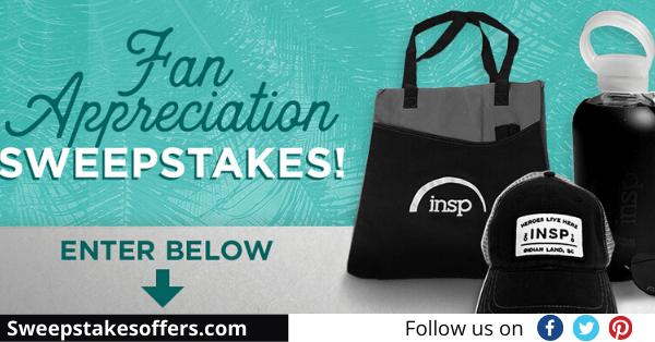 INSP Fan Appreciation Sweepstakes