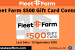 Fleet Farm $500 Gift Card Contest