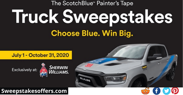 3M Scotchblue Painters Tape Sweepstakes