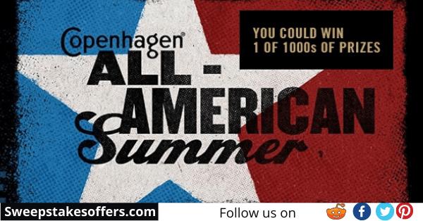 Copenhagen All American Summer Instant Win Game