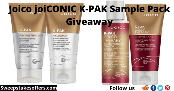Joico joiCONIC K-PAK Sample Pack Giveaway
