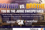 HGTV Brother vs Brother You Be the Judge Sweepstakes