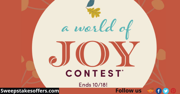 World Markets A World Of Joy Contest