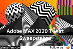 Adobe MAX 2020 T-shirt Sweepstakes