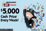 McDonald's Appstakes Monopoly Game Contest