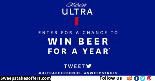 Michelob ULTRA Beer For A Year Sweepstakes