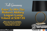 Robert Abbey Lighting Online Store Fall Giveaway