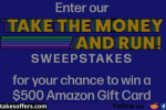 Buzzfeed Take the Money and Run Sweepstakes