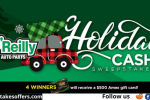 OReilly Auto Parts Holiday Cash Sweepstakes