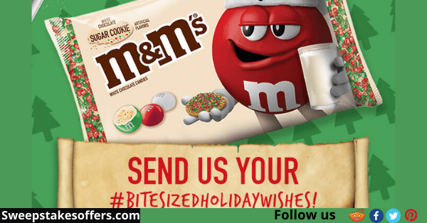 M&Ms Sugar Cookie Holiday Wishes Sweepstakes