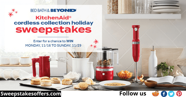 Bed Bath & Beyond Cordless Holiday Sweepstakes