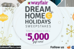 Wayfair Dream Home For The Holidays Sweepstakes