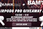 EJuice Direct AirPods Pro Giveaway