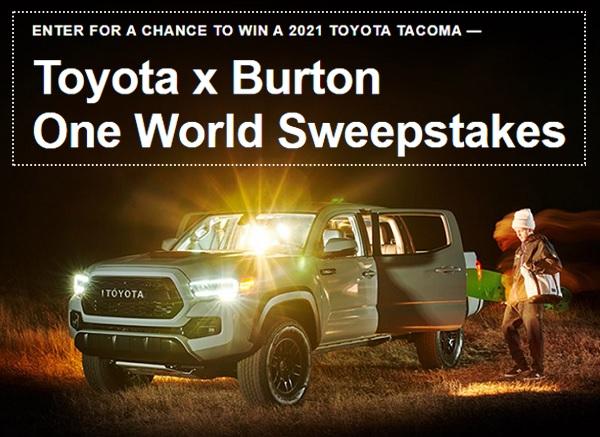 Burton.com/ToyotaSweepstakes