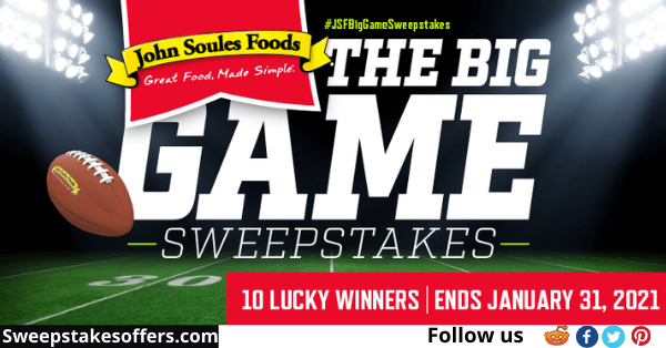 John Soules Foods Big Game Sweepstakes