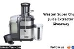 Weston Super Chute Juice Extractor Giveaway