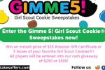 Gimme 5 Girl Scout Cookie Instant Win Sweeps