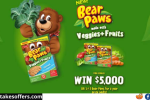 Dare Bear Paws Veggies and Fruits Giveaway