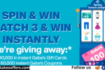 Gabes Spring Instant Jackpot Win Game