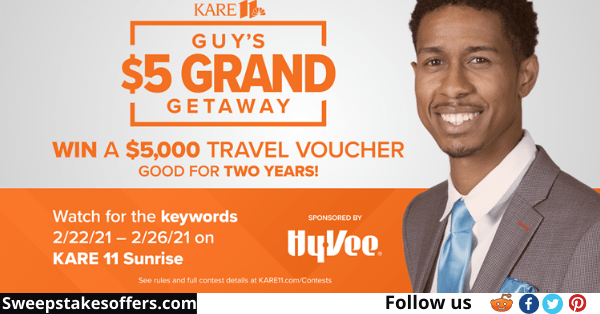 Kare 11 Guys $5 Grand Getaway Contest