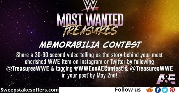 WWE Most Wanted Treasures Memorabilia Contest