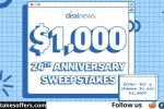 Deal News $1000 Shopping Spree Sweepstakes