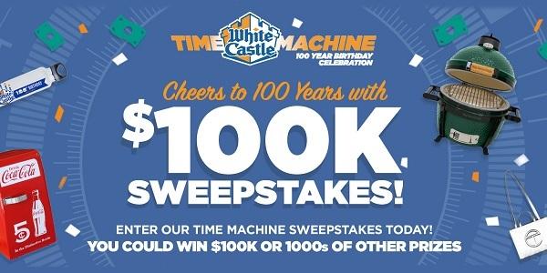 White Castle Time Machine 100th Birthday Celebration Sweepstakes