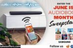 June is Audiobook Month Sweepstakes