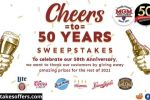 MGM Wine And Spirits 50th Anniversary Sweepstakes
