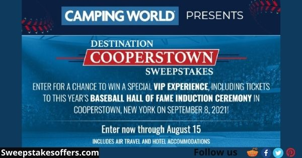 Camping World Destination Cooperstown Sweepstakes
