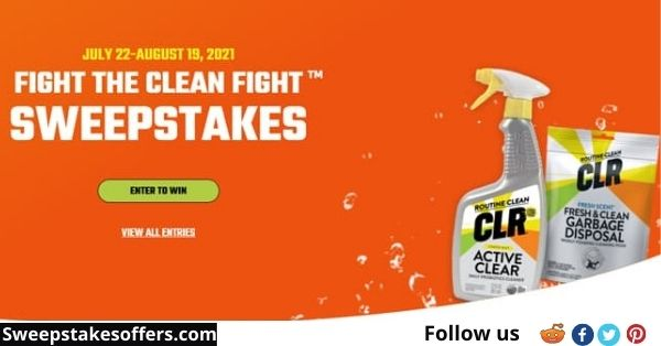 CLR Fight The Clean Fight Sweepstakes