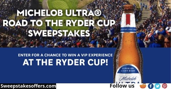 Michelob Ultra Road To The Ryder Sweepstakes