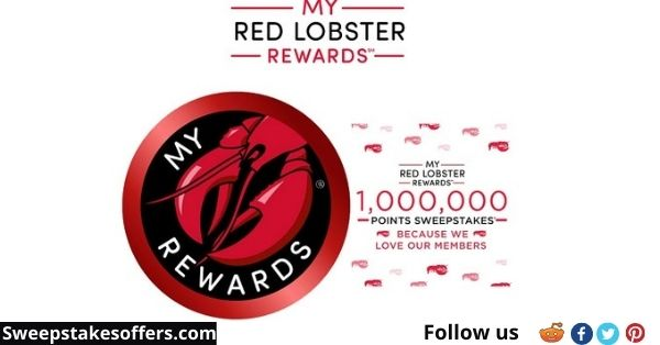 My Red Lobster Rewards 1 Million Points Sweepstakes