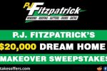P J Fitzpatrick's $20000 Dream Home Makeover Sweepstakes