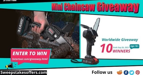 Mini Cordless Electric Chainsaw Giveaway