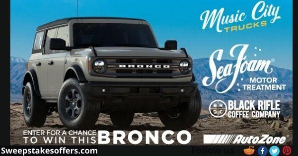 Seafoam Ford Bronco Giveaway