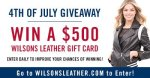 Wilsons Leather 4th Off July Gift Card Giveaway
