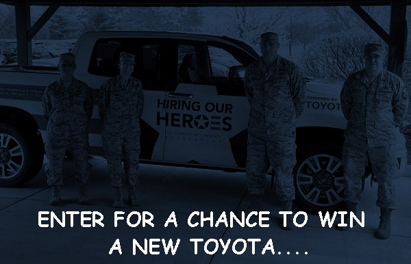 Toyota Sweepstakes presents by Hiringourheroes.org