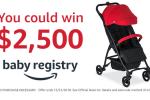 Amazon Baby Registry Britax Sweepstakes Win $2,500 Amazon Gift Card