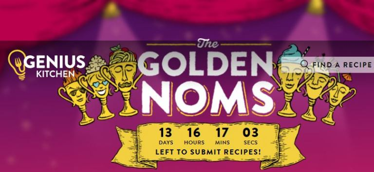 GENIUS KITCHEN'S 2018 GOLDEN NOMS RECIPE CONTEST