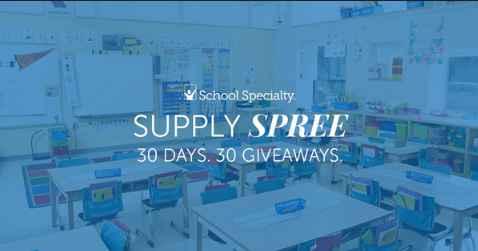 School Specialty Supply Spree Giveaway
