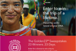 The Golden23SM Sweepstakes Win A Trip Prize Package