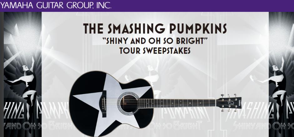 Yamaha Guitar Group Smashing Pumpkins Sweepstakes