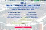 American Family Insurance Green Bay Packer Lambeau Experience Sweepstakes