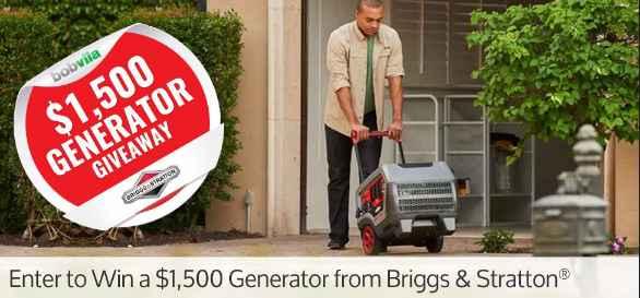 Bob Vila's $1,500 Generator Giveaway with Briggs & Stratton