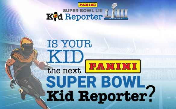 Panini Super Bowl Kid Reporter Sweepstakes - Win A Trip